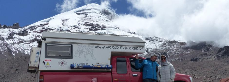 Ecuador,Vulkan Chimborazu,der sonnennäheste Punkt der Welt !